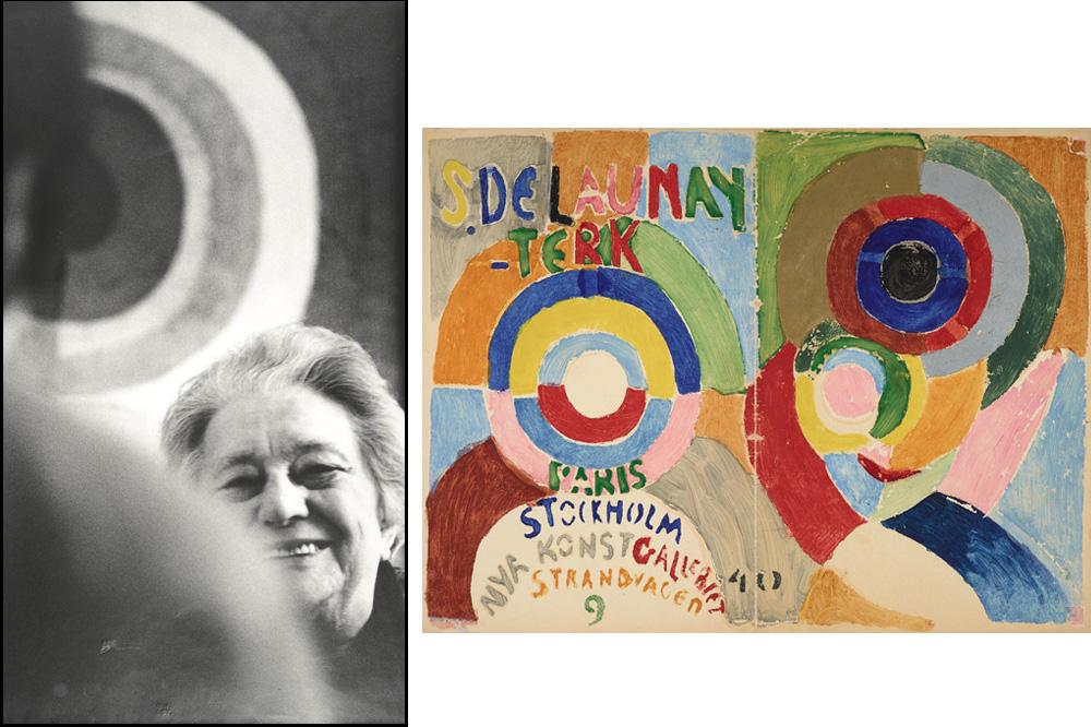 """""""Portrait de Sonia Delaunay"""" d'André Villers -  Couverture du catalogue de l'exposition de Stockholm, """"Autoportrait"""" de Sonia Delaunay 1916"""