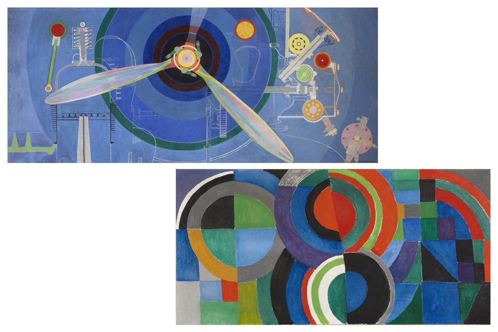 """Hélice, décoration pour le « Palais de l'Air », Exposition Internationale des Arts et Techniques de Sonia Delaunay (Paris 1937) -  """"Rythme Couleur"""" de Sonia Delaunay 1964"""