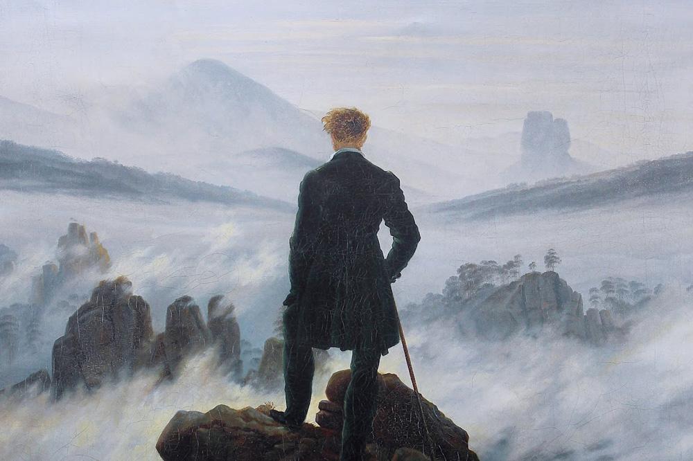 """Caspar Friedrich """"Voyageur contemplant une mer de nuages"""""""