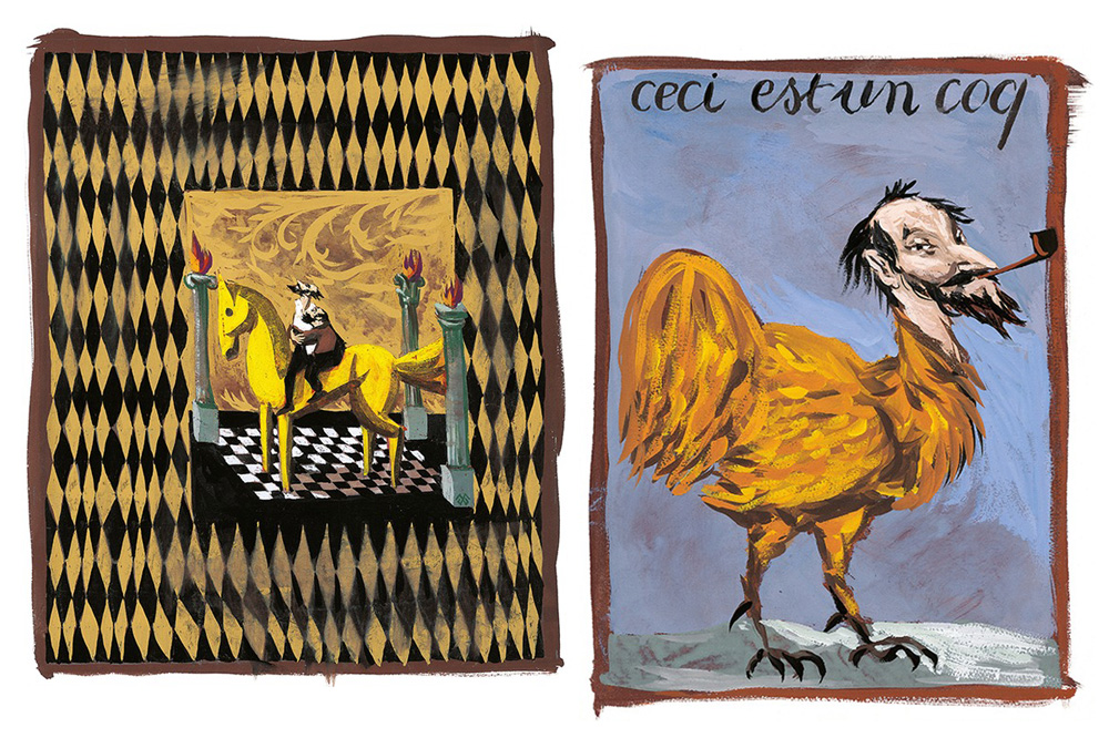 """""""Don Quichotte"""" de Cervantès illustré par Gérard Garouste chez Diane de Selliers Editeur"""