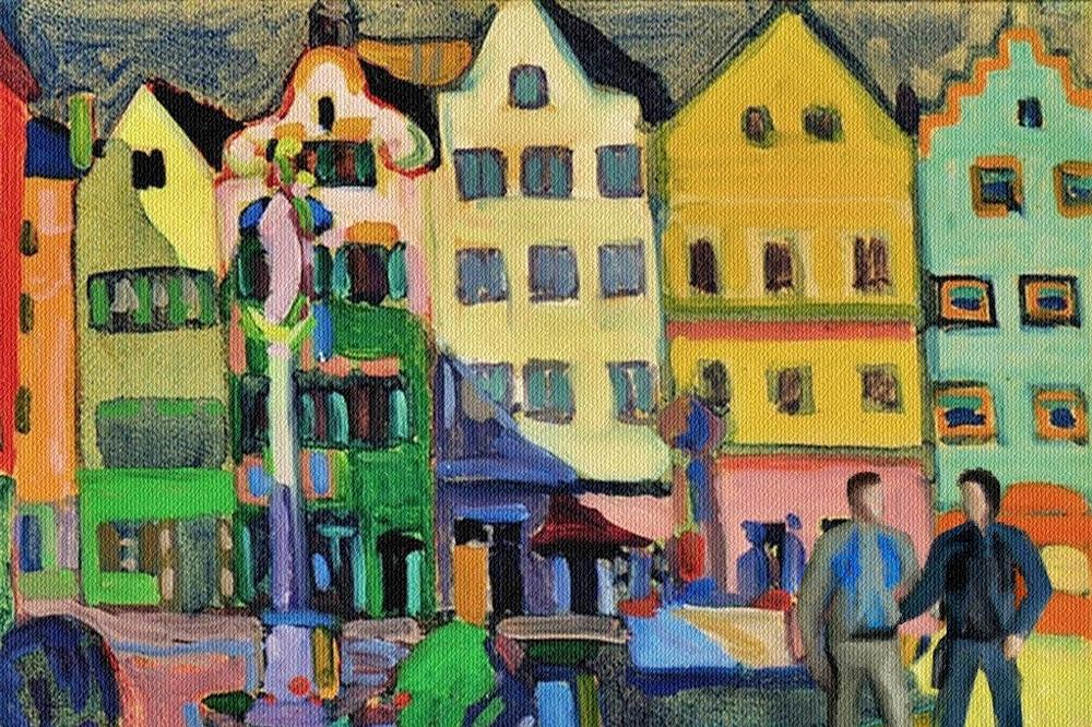 """Kandinsky """"Weilheim Marienplatz"""" 1909"""