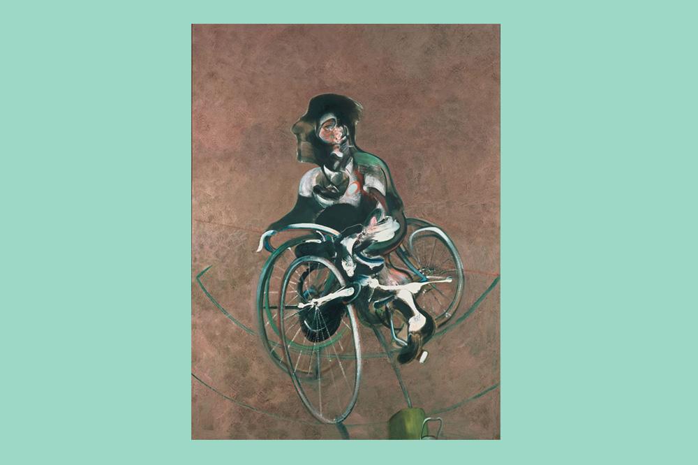 """""""Portrait de George Dyer à bicyclette"""", 1966, peinture de Francis Bacon"""