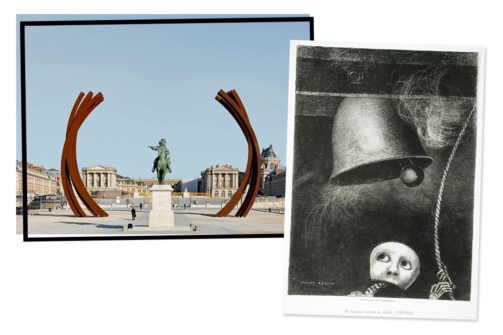 Bernar Venet à Versailles - Odilon Redon Lithographie de la série Edgar Poe