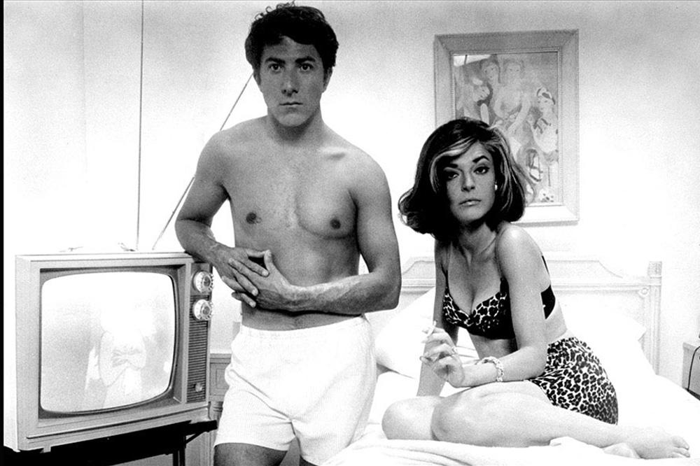 """Anne Bancroft et Dustin Hoffman dans """"Le Lauréat"""", film de Mike Nichols"""