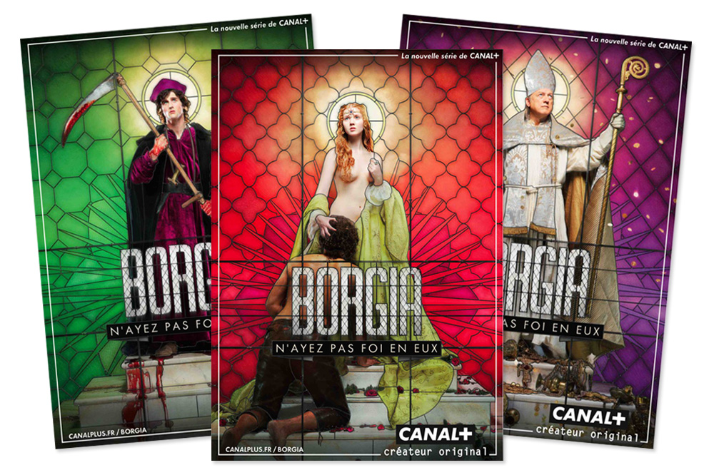 "Affiche ""Borgia"", David Lachapelle, Canal +"