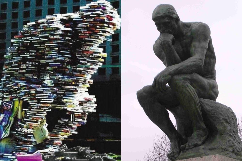 """""""Le Penseur en CD"""", d'après Rodin"""