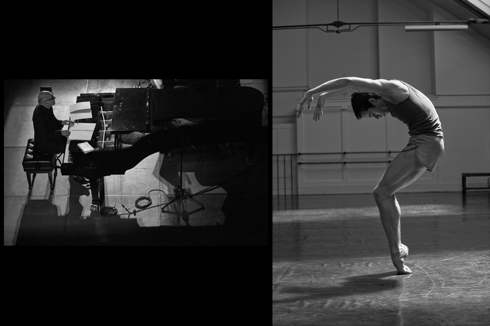 """""""For a very very long time I wished I could fly over the piano"""" avec Michael Nyman, Mexico, 2012 ; """"Question mark"""" avec Mathias Heyman, 2009"""