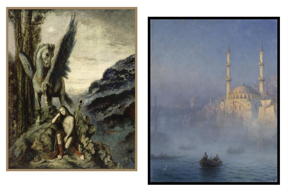 """""""Le poete voyageur"""" Gustave Moreau - """"Constantinople, la mosquée de Top Kahne"""" Ivan Aivazovsky"""