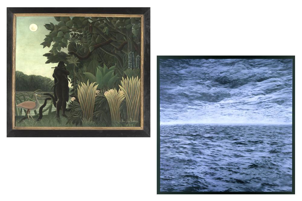 """""""La charmeuse de serpents"""" Henri Rousseau dit Le Douanier - """"Marine"""" Gerhard Richter"""