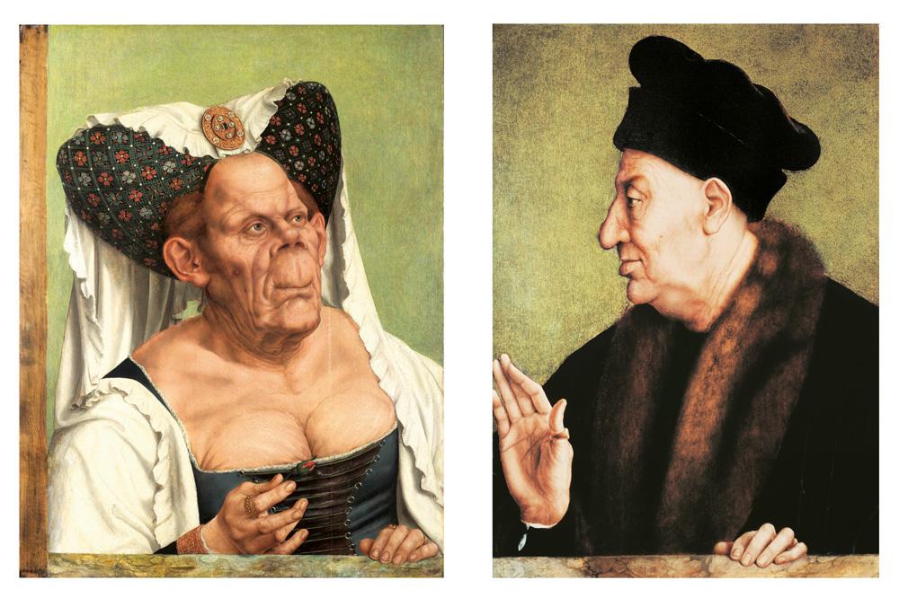 Portraits de vieille femme grotesque et vieil homme grotesque de Quentin Metsys