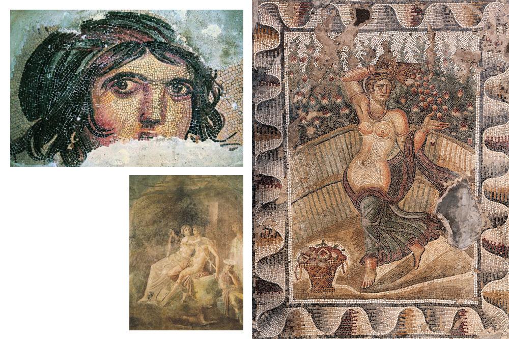 Images extraites de «L'Enéide, illustrée par les fresques et les mosaïques antiques », de Virgile, Diane de Selliers Editeur