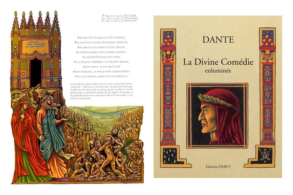 « La Divine Comédie enluminée », de Jean-Luc Leguay, Editions Dervy,