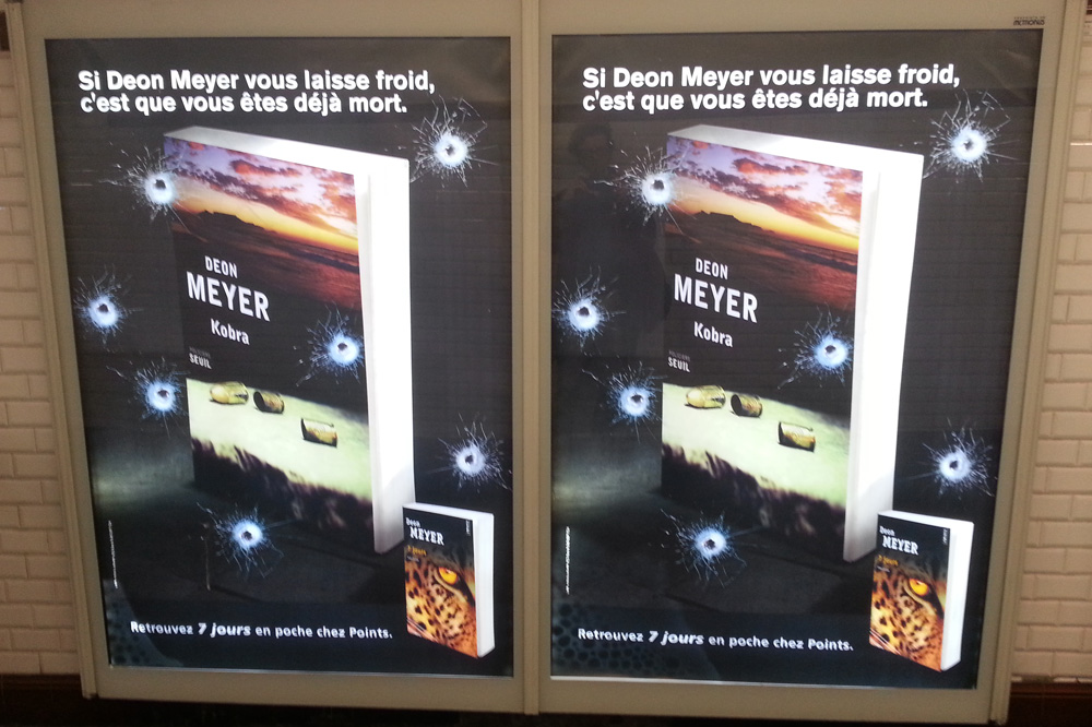 "Deon Meyer ""Kobra"", Editions Seuil; ""7 jours"" Editions Points"