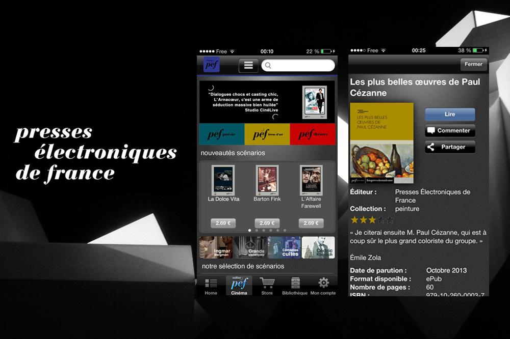 L'application Les Presses Electroniques de France
