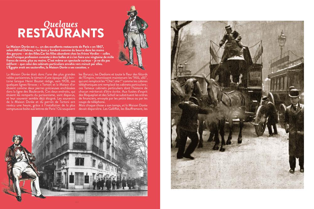 """uesmques restaurants - """"La neige sur les boulevards en 1911"""""""