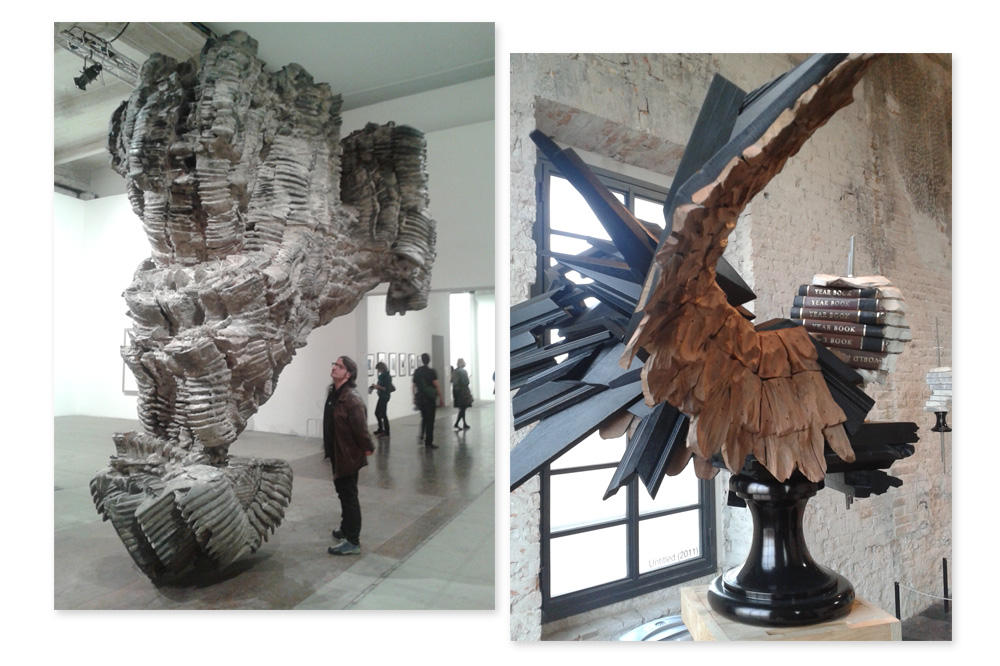 """Belinda"" Roberto Cuoghi ;  ""Aigle"" Wim Botha - Biennale de Venise"