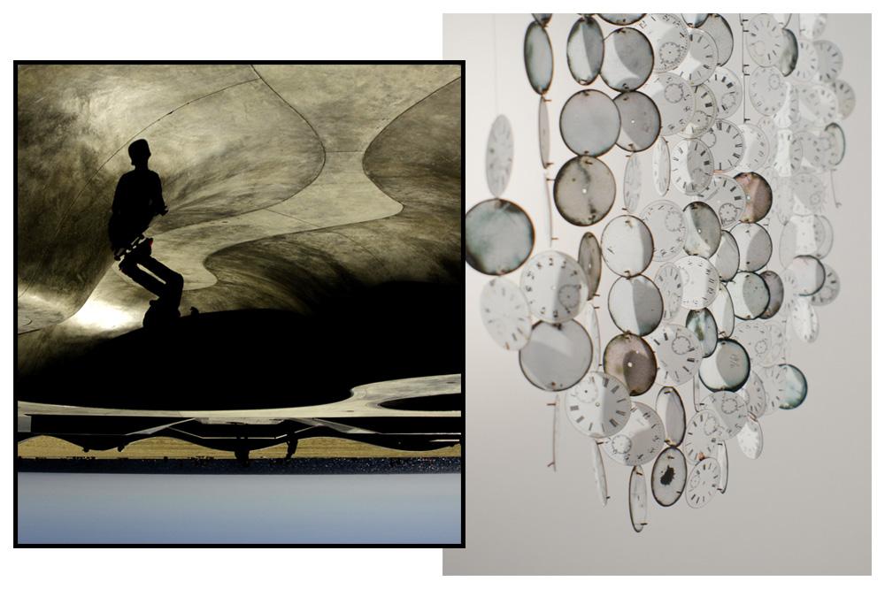 """""""Je suis debout. Venice Beach"""" de Francoise Gaujour - """"Les roues libres"""" de Stephanie Guglielmetti"""