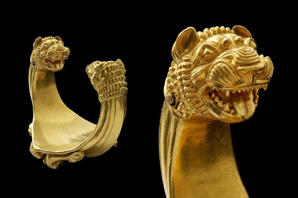 Bracelet aux figures de lions Ziwiyé, Iran VIIIe-VIIe siècle av. J.-C.