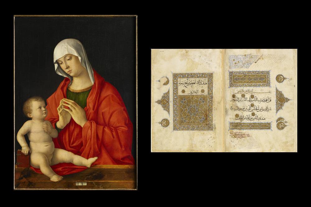 Vierge à l'Enfant Giovanni Bellini (Venise, 1430 – Venise, 1516) vers 1480-1485 - Section du Coran (sourates 78-114) avec commentaires (tafsīr, qirā'āt, i'āb) Syrie, deuxième moitié du XIIIe s