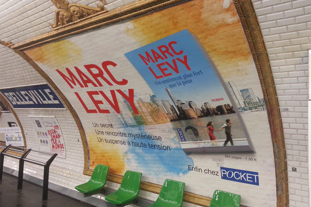 """Un sentiment plus fort que la peur"" de Marc Levy -  Editions Pocket"