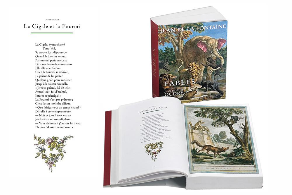"""""""Les fables"""" de Jean de La Fontaine illustré par Jean Baptiste Oudry"""