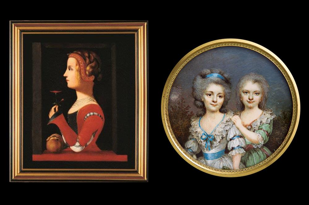 Laure de Sade (copyright Collection comtesse de Sade) - La marquise de Sade et sa soeur (copyright Photo J Faggiano - Collection Bruno de Lesquen)