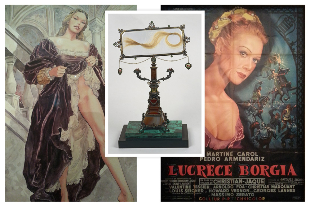 """Lucrèce Borgia par Milo Manara - Reliquaire des cheveux de Lucrèce Borgia - """"Lucrèce Borgia"""" film de Christian-Jaque"""