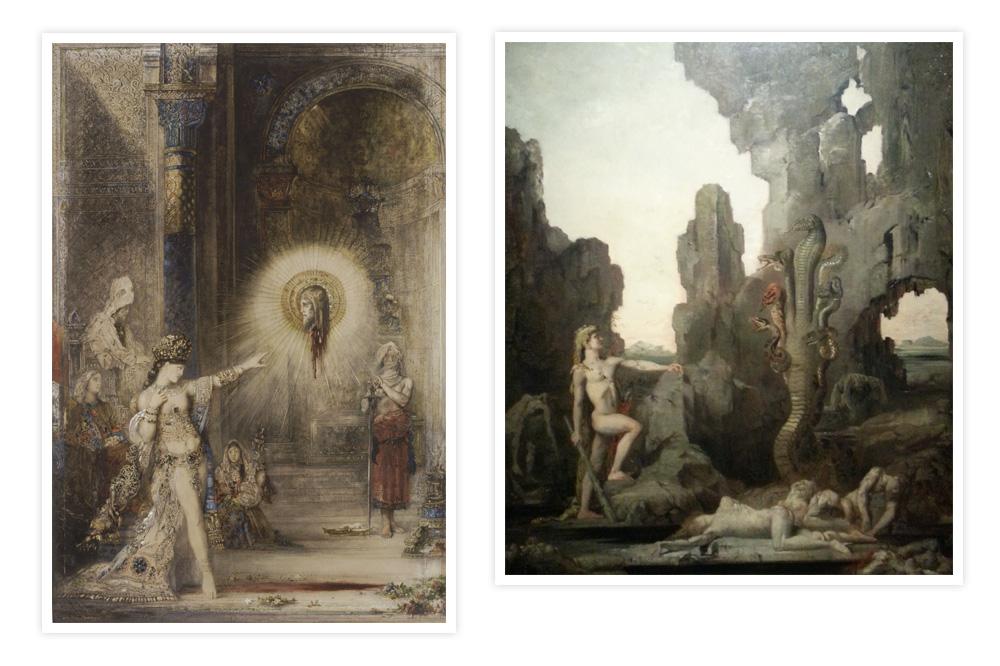 """""""Apparation"""" et """"Hercule et l'Hydre de Lerne"""" de Gustave Moreau"""