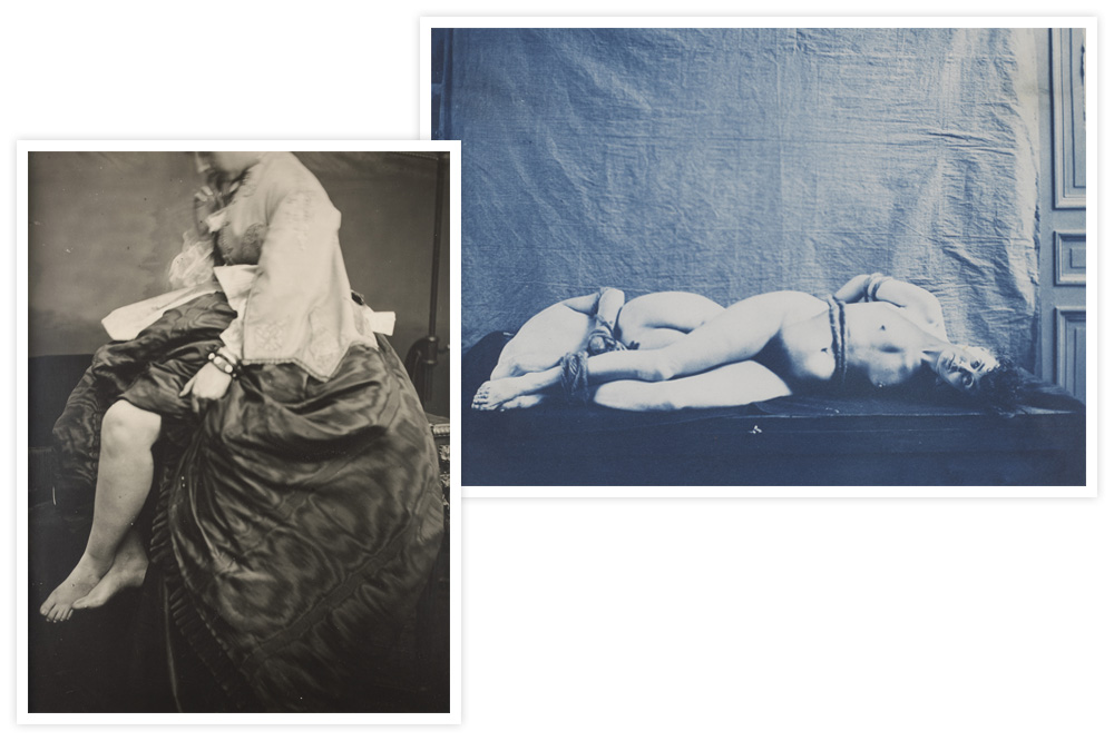 """""""Comtesse de Castiglione"""" de Verasis Pierson - """"Deux femmes nues attachées"""" de Jeandel"""