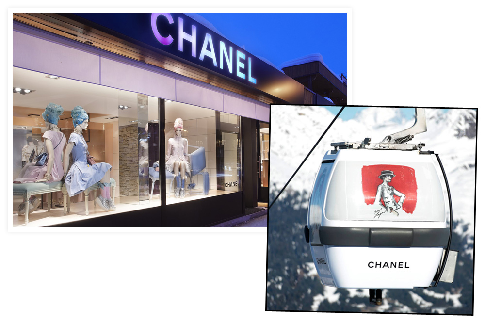 Magasin Chanel - Cabine de téléski habillé par Chanel