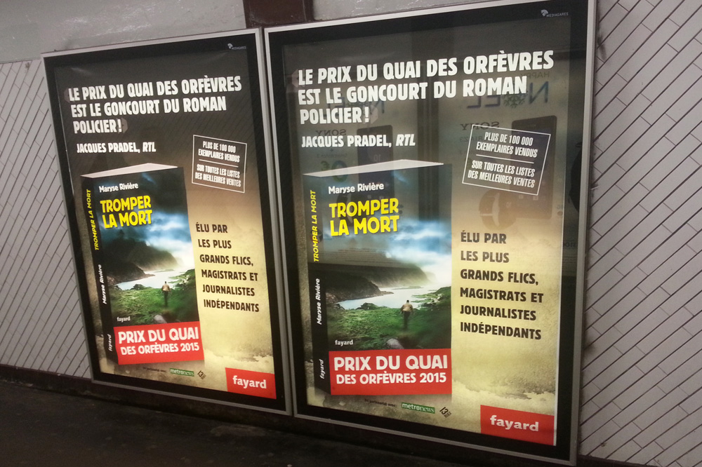 """Tromper la mort"" de Maryse Rivière - Editions Fayard"