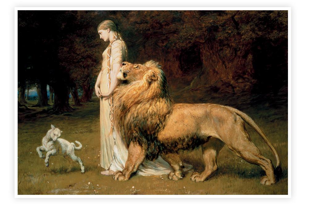 """""""Una et le lion"""" de Briton Riviere"""