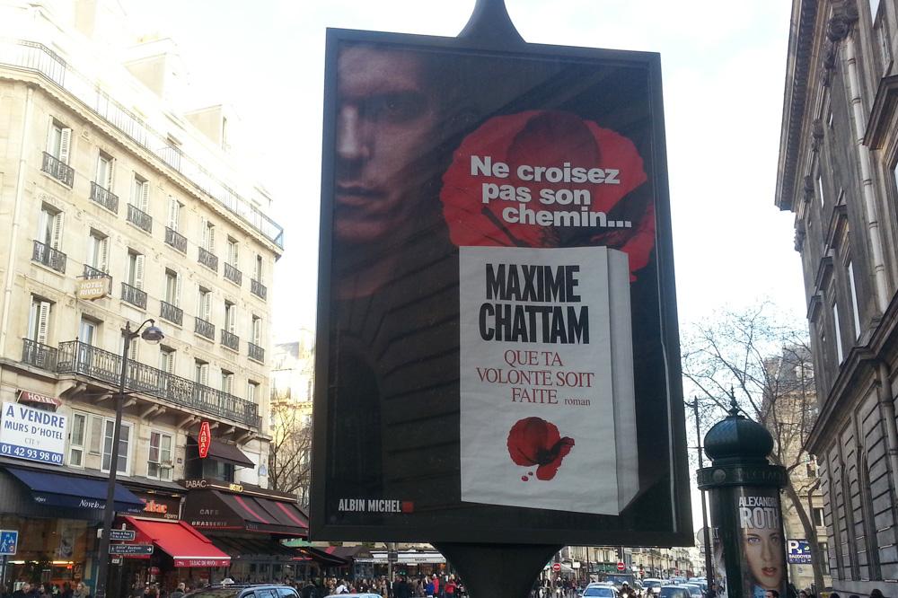 """""""Que ta volonté soit faite"""" de Maxime Chattam, Editions Albin Michel"""