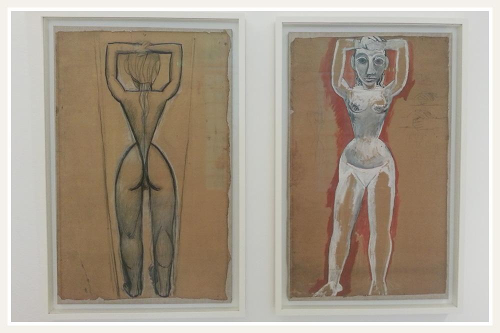 """Etudes pour les """"Demoiselles d'Avignon"""" de Picasso, 1907"""