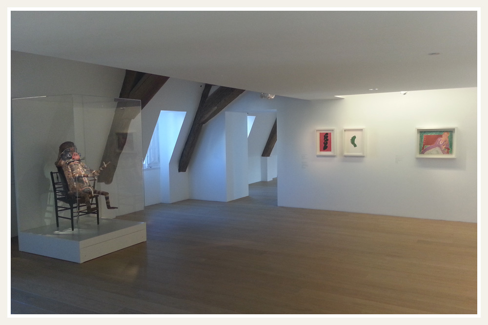 Combles aménagée, salle dédiée à Matisse