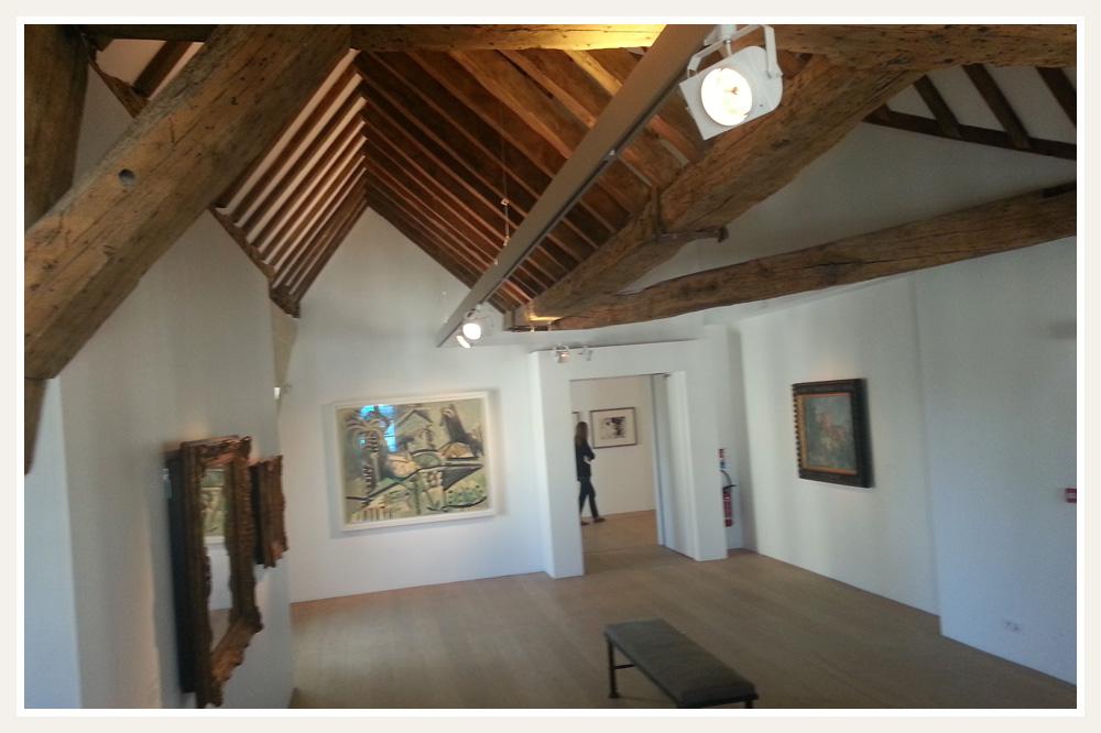 Combles aménagée, salle dédiée à Cézanne
