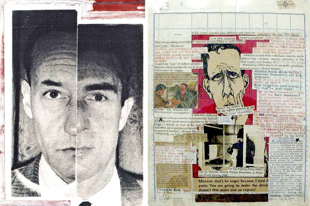 William's Burroughs Brion Gysin Ian Sommervilles dyptych 1962 collage