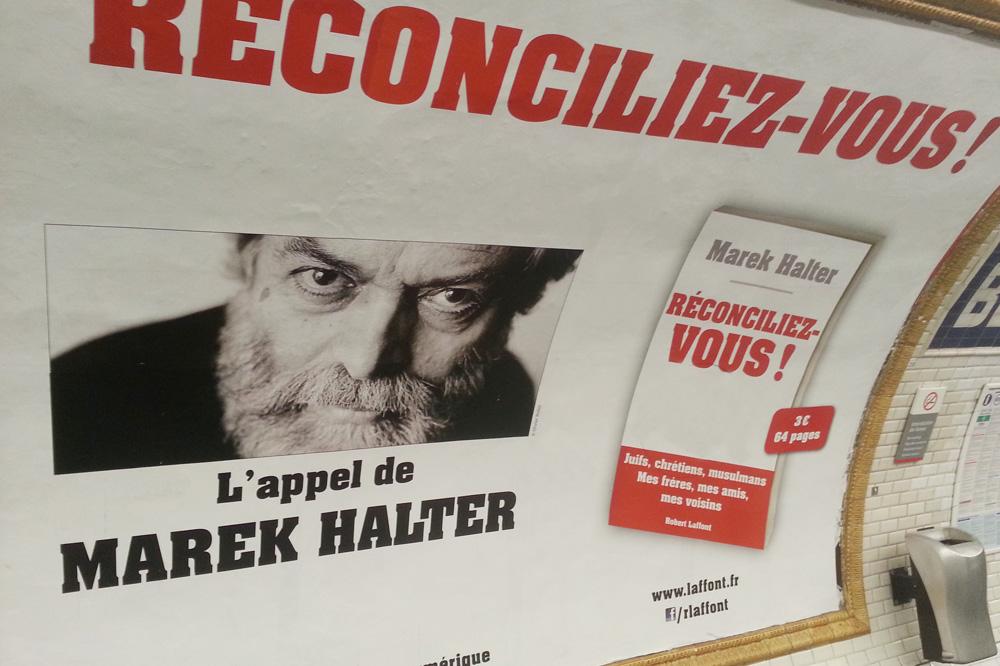 """Réconciliez-vous"" de Marek Halter - Editions Robert Laffont"