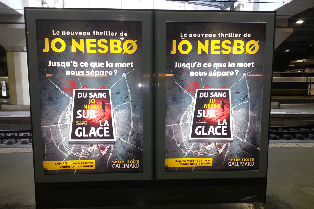 """Sur la glace"" de Jo Nesbo, Editions Gallimard"