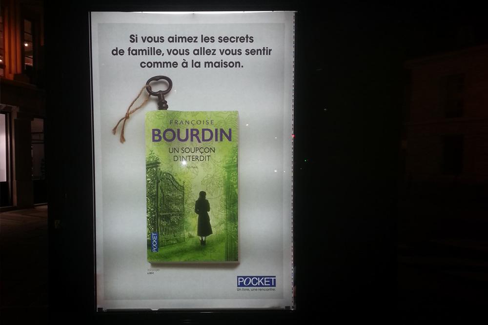 """""""Un soupçon d'interdit"""" de Françoise Bourdin, Editions Pocket"""
