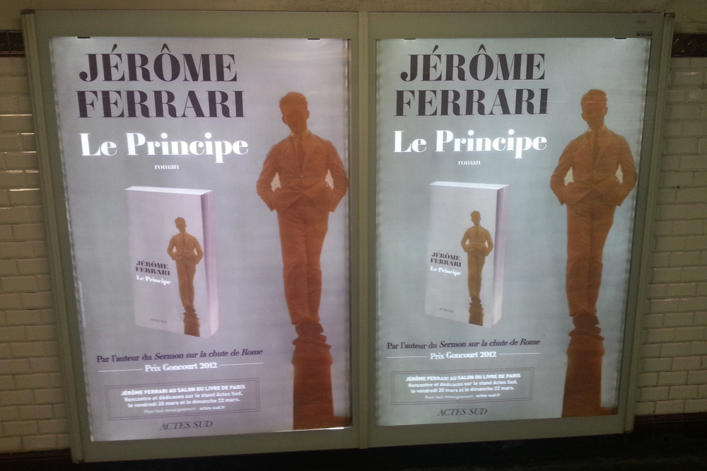 """""""Le principe"""" de Jérôme Ferrari, Editions Actes Sud"""