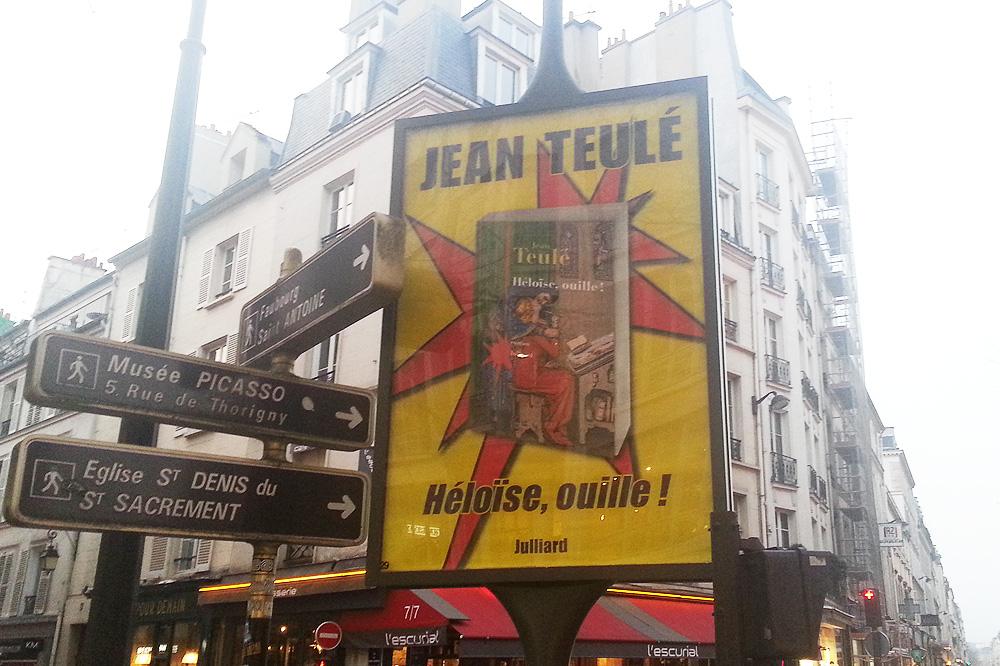 """""""Héloïse, ouille !"""" de Jean Teulé, Editions Julliard"""