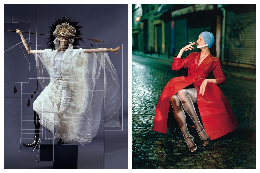 Bjork par Jean-Paul Goude - Kristen McMenamy, rue de la Goutte d'Or, Paris par Paolo Roversi, 1994.