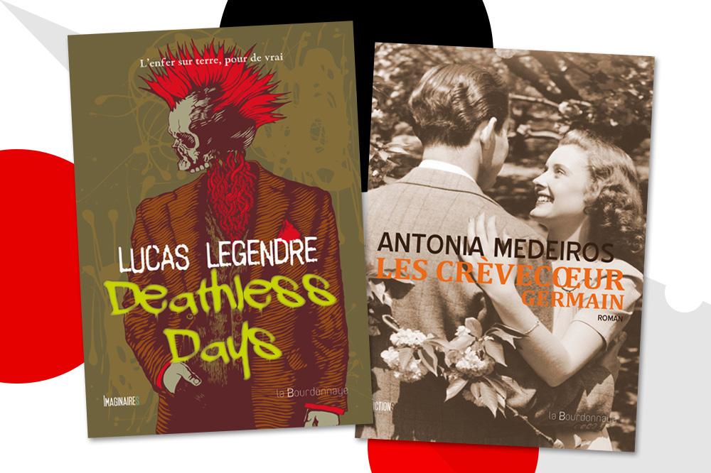 """""""Deathless days"""" de Lucas Legendre ; """"Les crèvecoeur germain"""" d'Antonia Medeiros - Editions La Bourdonnaye"""