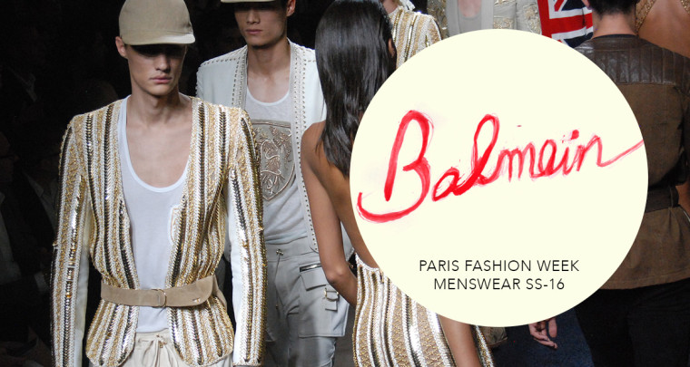 Paris Fashion Week Homme SS16 : Balmain