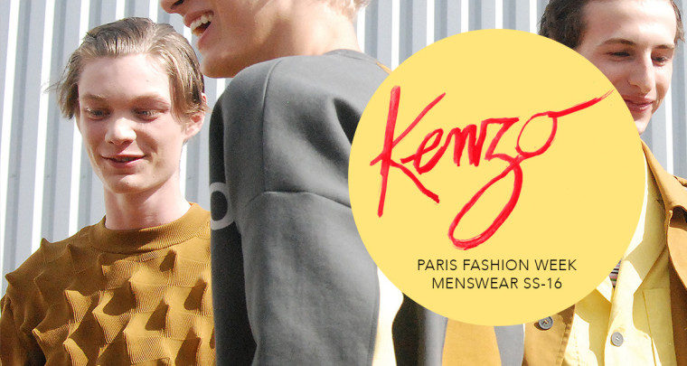 Paris Fashion Week Homme SS16 : Kenzo