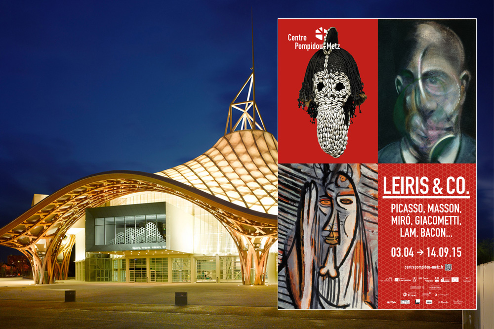 Centre Pompidou Metz - Affiche de l'exposition Michel Leiris & Co