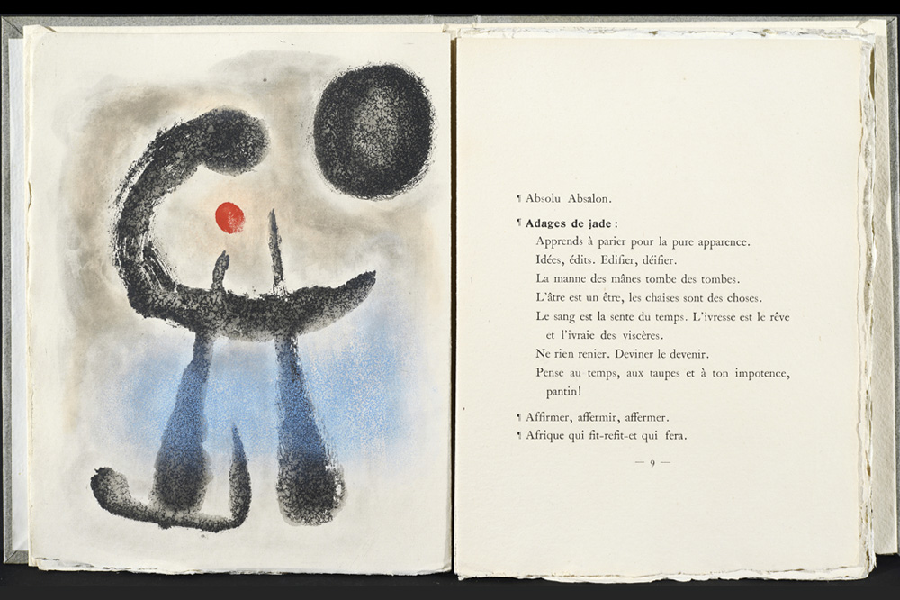 "Illustration de Miro pour ""Bagatelles vegetales"" de Michel Leiris, 1956"