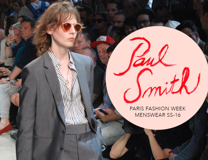 Paris Fashion Week Homme SS16 : Paul Smith