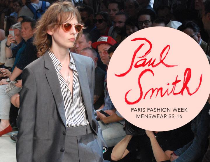 Paris Fashion Week Homme SS16 : Paul Smith